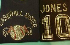 Baseball Sister T shirt OR Softball Sister Rhinestone by thirstees, $36.99