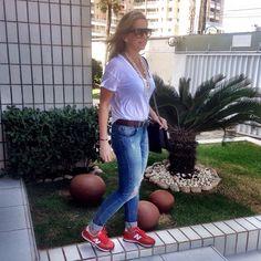 Minha nova mania é usar tênis no dia a dia. Não quero outra vida! ❤️❤️❤️#newbalance #andreafialho #tenistododia #style #dicasdemoda #andreafialho #ootd #estiloandreafialho