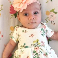 Annabelle finally grew out of her newborn clothes although I managed to squeeze her into this dress one last time A day in the life with a baby is now live on my channel#annabellerose #sixweeksold