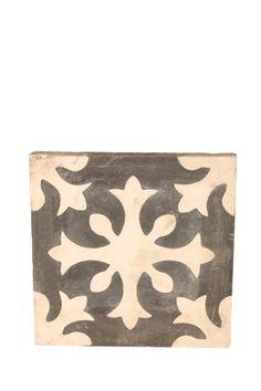 gray Moroccan tile!