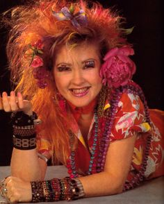 Cyndi Lauper as featured in Cosmopolitan magazine, February 1986. Photograph by Tony Costa.