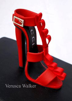 "Every woman needs a ""haute"" red shoe in their collection.  Gucci Shoe by Verusca Walker"