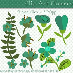 Clip Art Flowers Fall Floral Clip Art Fall by CheriesArtsnCrafts
