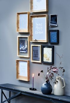 vtwonen wooden picture frames- Boer Staphorst | #vtwonen #hout #schilderijen #muur Bekijk meer van vtwonen op: www.boer-staphorst.nl/vtwonen Decor, Home, Beautiful Interiors, House Styles, Gallery Wall, Home Deco, Rustic Wall Decor, Living Room Inspiration, Decorating Your Home