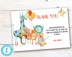 Editable Party Animals Thank You Card, Party Animals instant download invitation,You print birthday invitation, Party Animals DIY party Animal Party, Party Animals, Diy Party, Card Party, Animal Birthday, Party Printables, Birthday Celebration, Birthday Invitations, Save Yourself