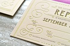 Gorgeous line work on this invitation suite