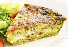 This delicious savoury pie is extremely easy to make -simply mix all ingredients together and bake. It& great enjoyed fresh out of the oven with a side salad, or cut up and chilled for school or work lunches. Bisquick Recipes, Quiche Recipes, Egg Recipes, Light Recipes, Cooking Recipes, Recipies, Sandwich Recipes, Savoury Slice, Savory Tart