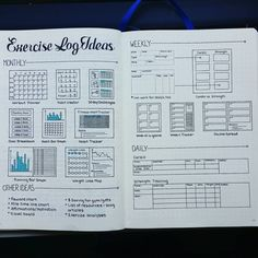 Bullet journal exercise log
