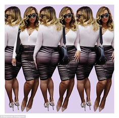 Oh Bey-have! Beyonce proved she's snapped back into shape as she showcased her bodacious body in a series of Instagram photos on Friday