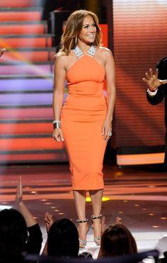 Victoria Beckham dress on Jennifer Lopez.