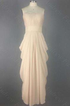 Sweetheart Neck Long Chiffon Prom Dresses pleat Floor Length party Dresses Custom Made 2016