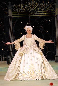 Stacy Ross as Princess Léonide in The Triumph of Love, 2007.#calshakes40th
