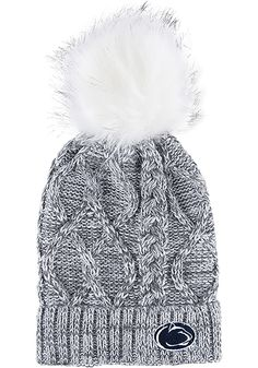 best loved 1033f 9eb9b Penn State Nittany Lions Grey Marled Womens Knit Hat, Grey, Acrylic