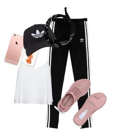 """Just Adidas #dopeset"" by ppolinkaaa on Polyvore featuring moda, adidas Originals, adidas, Alice + Olivia, women's clothing, women, female, woman, misses i juniors"