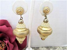 Pearl Long Earrings, Chandelier Dangle,  Wedding Faux Pearls