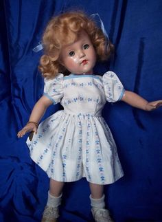 """18"""" Little Lady by I haEffanbee in Original Dress    I got a Lady doll when I was 8. She had different clothes on though."""