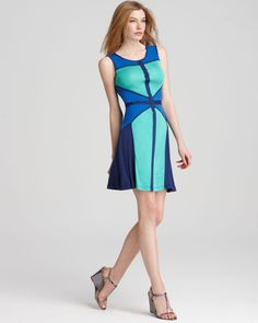 BCBG color block - perfect for the office.