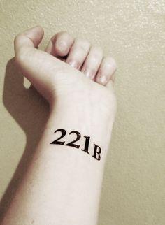 Sherlock  221B  Temporary Tattoo by PopGeekTattoos on Etsy