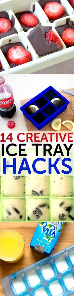 DIY Food & Recipe For Party : 14 creative ice tray hacks and recipes Ice Cube Trays, Ice Tray, Ice Cubes, Yummy Treats, Sweet Treats, Cuisine Diverse, Good Food, Yummy Food, Snacks