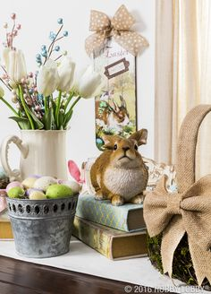 Elegance is just an accent away with beautifully traditional Easter décor.