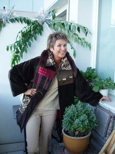 Warme Jacken - Ausgefallene Patchwork - WINTERJACKE braun - ein Designerstück…