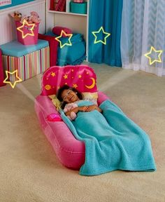 Dream Glimmers Comfort Air Beds Kids Sleep Guest Pull Out Beds Bright Colorful #DreamGlimmers