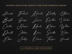 Anthoni Signature Font designed by Kotak Kuning Studio. Name Signature, Signature Fonts, Modern Retro, Retro Vintage, Font Keyboard, Font Creator, Custom Fonts, Modern Calligraphy, Personal Branding