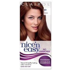 Nice'n Easy No Ammonia Mahogany 81 Hair Dye Non Permanent Hair Dye, Demi Permanent, Healthy Shampoo, Color Shampoo, Dark Blonde, Grey Hair, Easy Hairstyles, Hair Color, Women