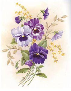 Pansies III Reina Bloemen