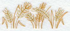 Golden Wheat Border design (H3125) from www.Emblibrary.com