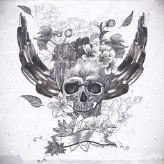 sugar skull background - Google Search