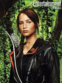 katniss. I LOVE the Hunger Games. I'm so excited for the movie!
