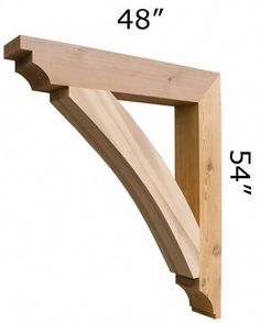 We offer wooden cedar architectural brackets, wooden cedar corbels and gingerbreads for front porch posts, gable, sofits and front stoop. We have largest selection of Cedar Brackets and Cedar Brace made in USA. Metal Pergola, Cheap Pergola, Backyard Pergola, Patio Roof, Pergola Plans, Pergola Ideas, Corner Pergola, Patio Ideas, Gazebo