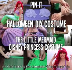 Halloween DIY Costume - The Little Mermaid Disney Princess Costume Kinda feeling like dressing up like a Disney Princess for Halloween this year!