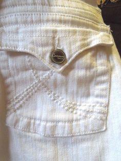 Women Sz 10 #SwatFame #CommonGenes #Bootcut #MidRise #WhiteJeans #FlapPocket #WomensJeans #Denim