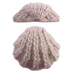 sweet little knitted cockle shell pattern by OddKnit with directons Knitting Stitches, Knitting Patterns Free, Knit Patterns, Free Knitting, Free Pattern, Stencil Patterns, Crochet Motif, Crochet Toys, Knit Crochet