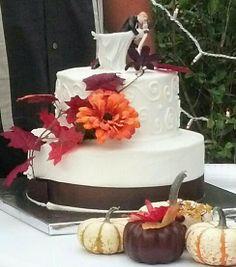 Fall wedding cake