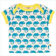 Kurzarm-Shirt Chamäleons aqua - loud + proud - www.lolakids.de Kindermode