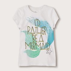 I'd Rather Be A Mermaid Graphic Shirt ☑
