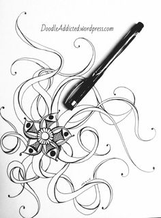 Twilight Anemone Doodle art by Heidi Denney