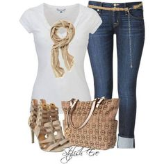 Simple and great! Spice up any outfit with some big jewelry! Love the gold