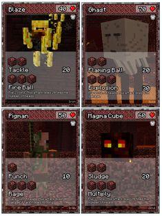 Papercraft Minecraft Cards