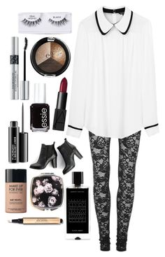 """""""Dressed Up"""" by inthesummer ❤ liked on Polyvore featuring Rodarte, Tara Jarmon, Ardell, SWEET MANGO, NARS Cosmetics, Christian Dior, Essie, MAC Cosmetics, Agonist and MAKE UP FOR EVER"""