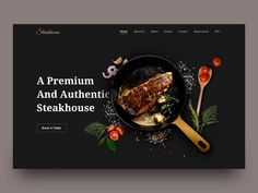 Steakhouse Homepage designed by Patya Pindo for Sebo . Connect with them on Dribbble; the global community for designers and creative professionals. Food Web Design, Food Graphic Design, Food Poster Design, Menu Design, Ui Design, Brand Design, Flyer Design, Restaurant Website Design, Homepage Design