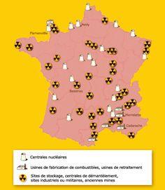 """Centrales nucléaires en France. Sécurité. """"L'immense majorité des français vit à 100 km d'une centrale nucléaire, rarement plus""""."""