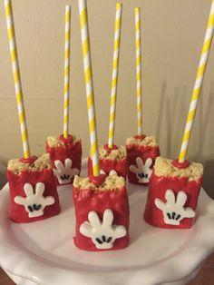 Mickey inspired rice Krispy treats