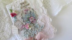 Shabby Lace Notebook  Mini Journal Fabric by underthenightmoon, $11.00