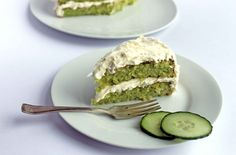 Cucumber and Lemon Cake with Elderflower Icing Recipe | Veggie Desserts