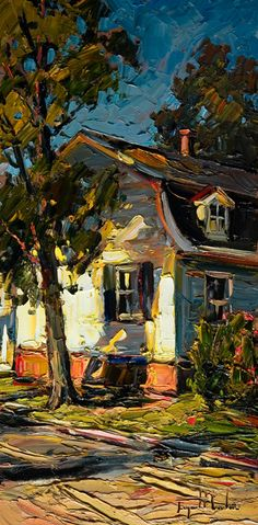۩۩ Painting the Town ۩۩ city, town, village house art - Raynald Leclerc | La Maison Ensoleillee