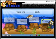 Samson's Classroom is a web-based game for teaching sight words.  It is SO FUN!  My students love Samson (the adorable dog who helps them learn their words)